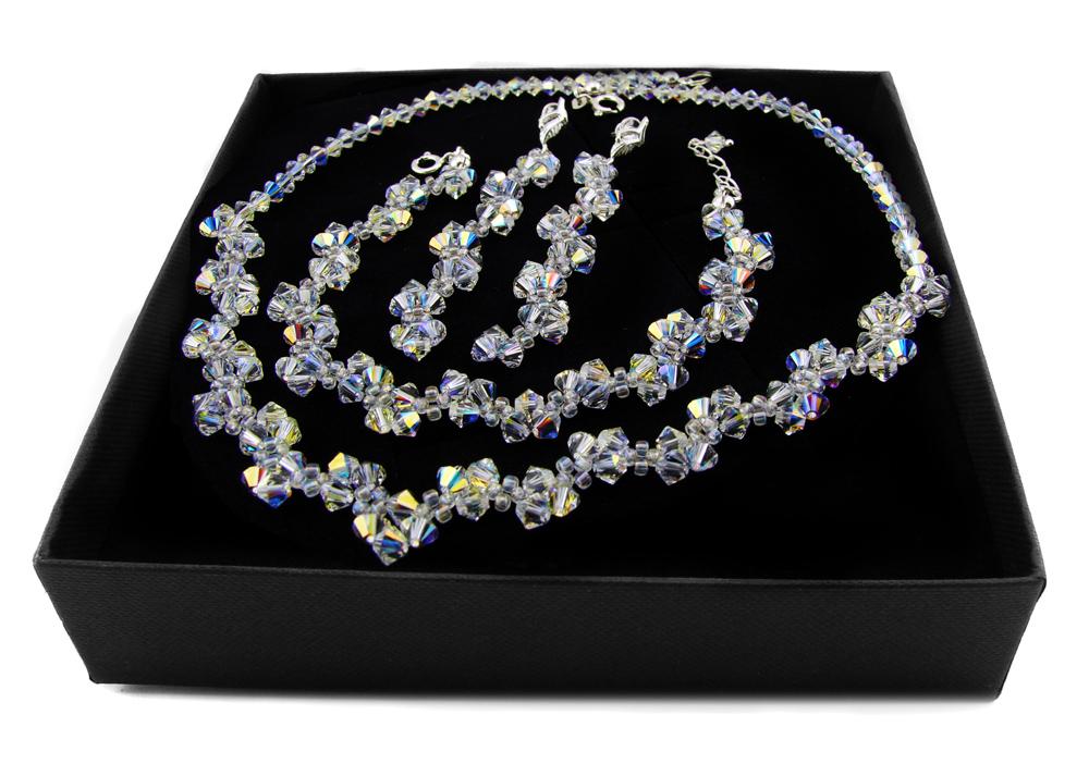 Item ARSYLION set with Swarovski crystal Crystal AB