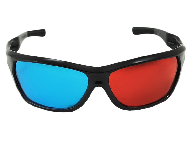 Item Glasses 3D stereo viewing Red Cyan NVIDIA effect filters