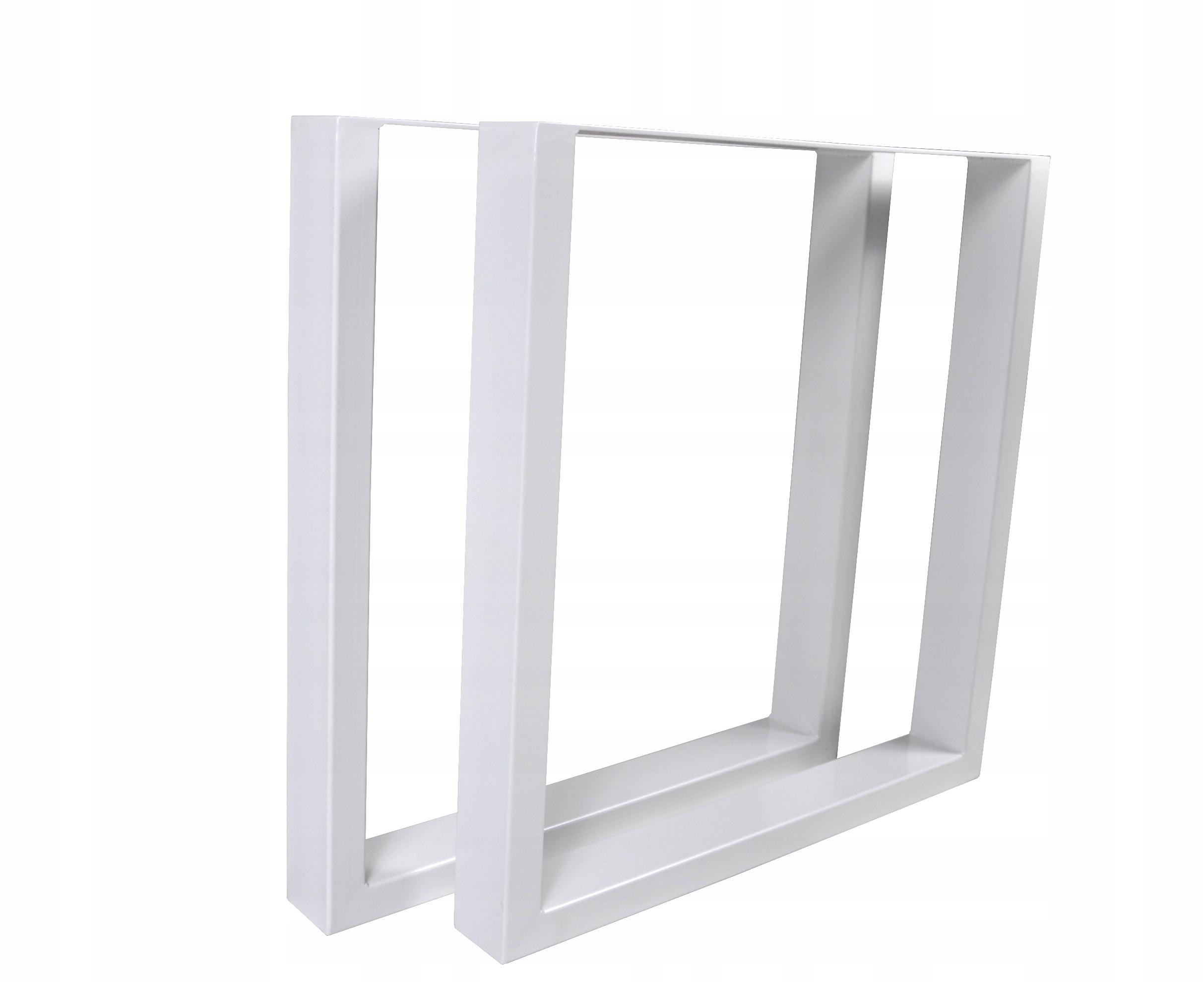 2 x kovové rámy na stôl, biele 60x72 cm