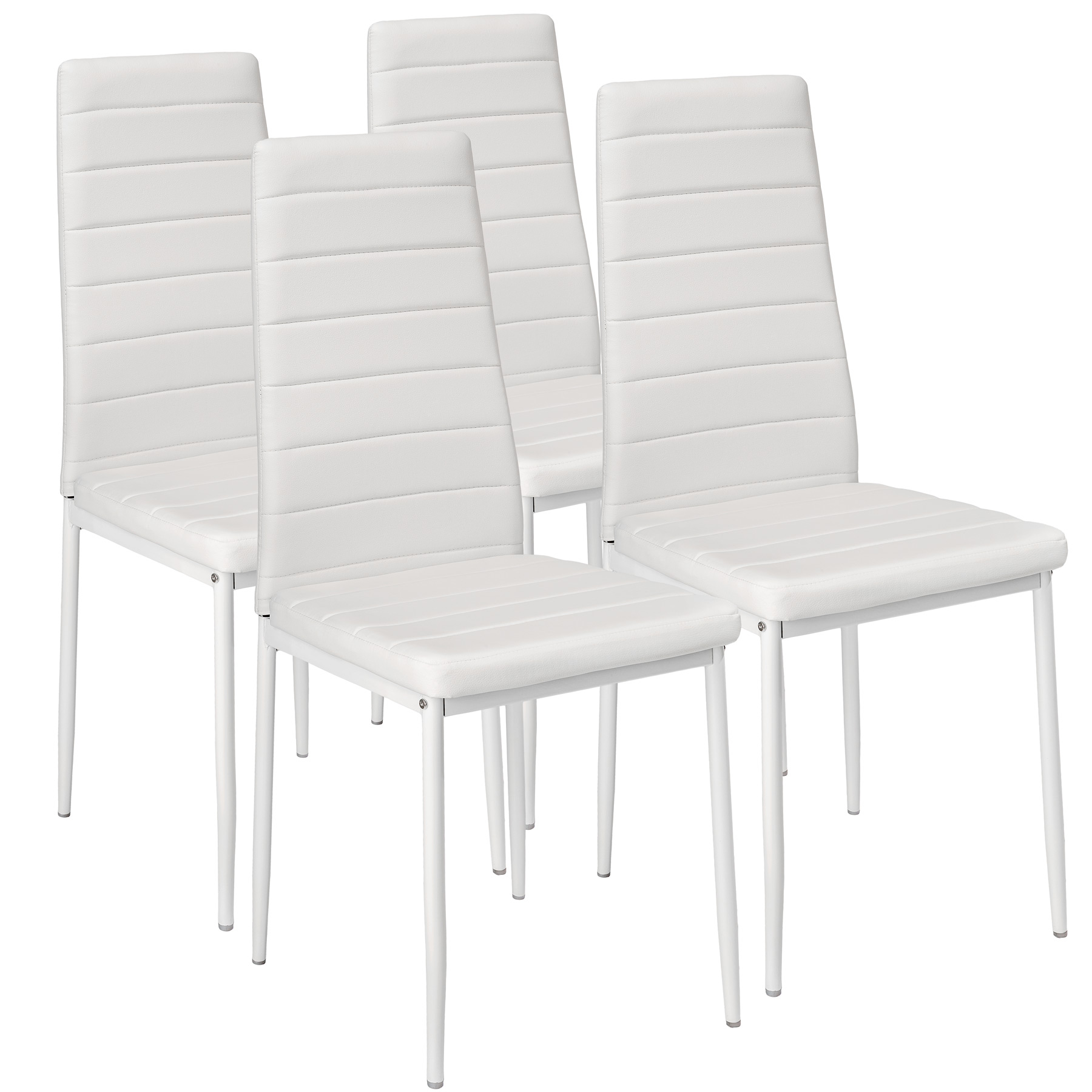 Мягкий стул, кожзам белый Milano 4 шт