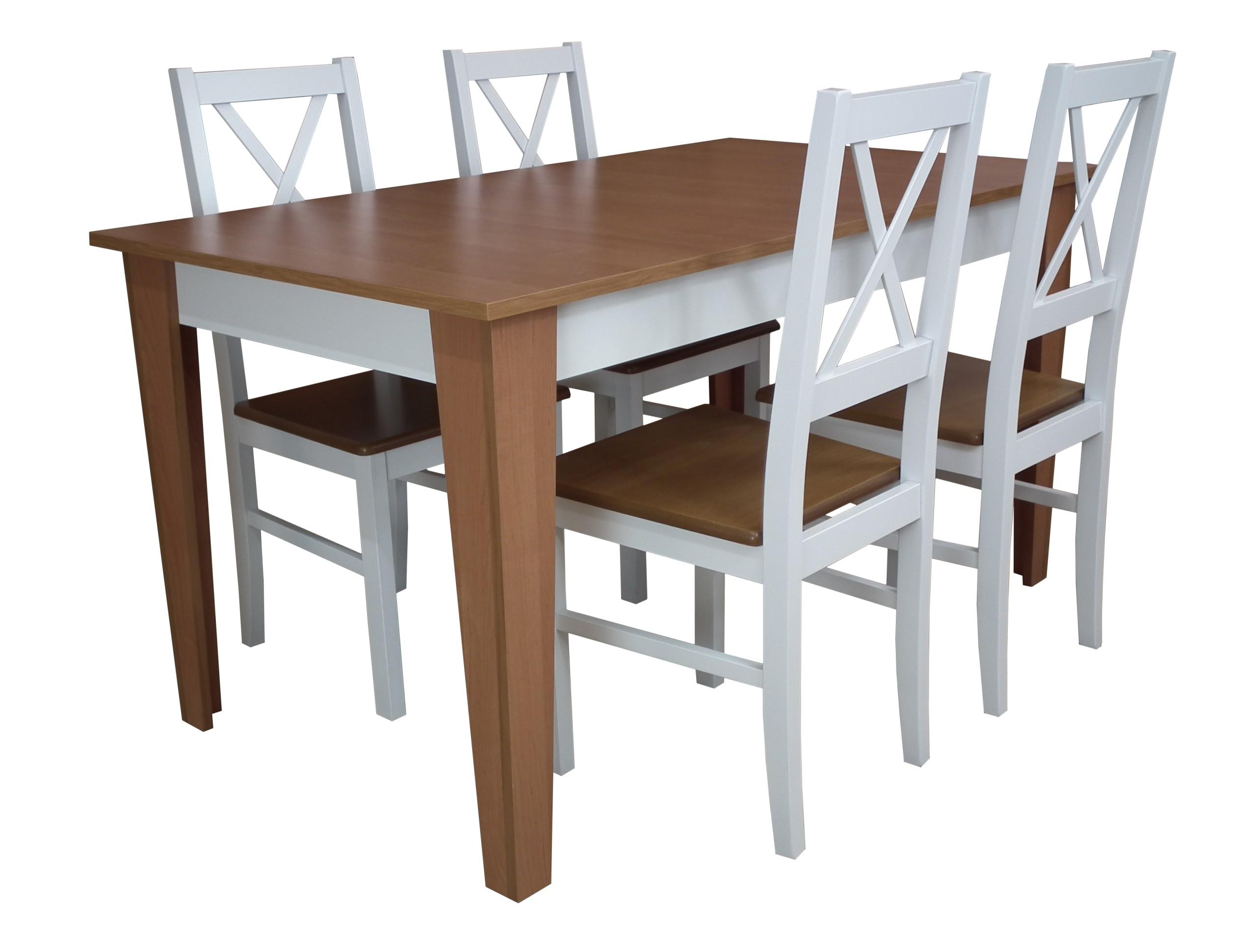 Maly Stol Do Jadalni Z 4 Krzeslami Drewnianymi