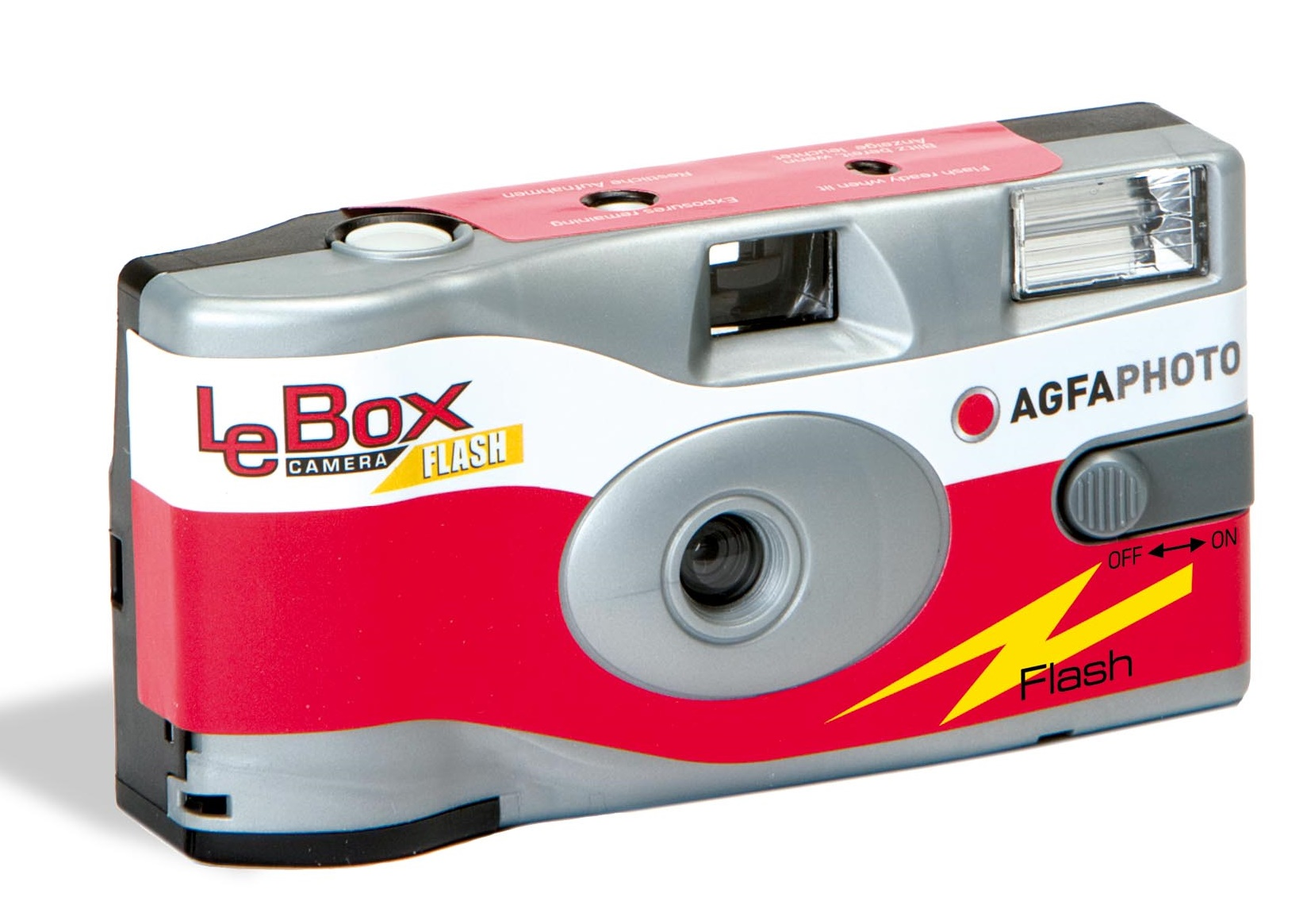 Item Agfa Lebox camera with flash and color film