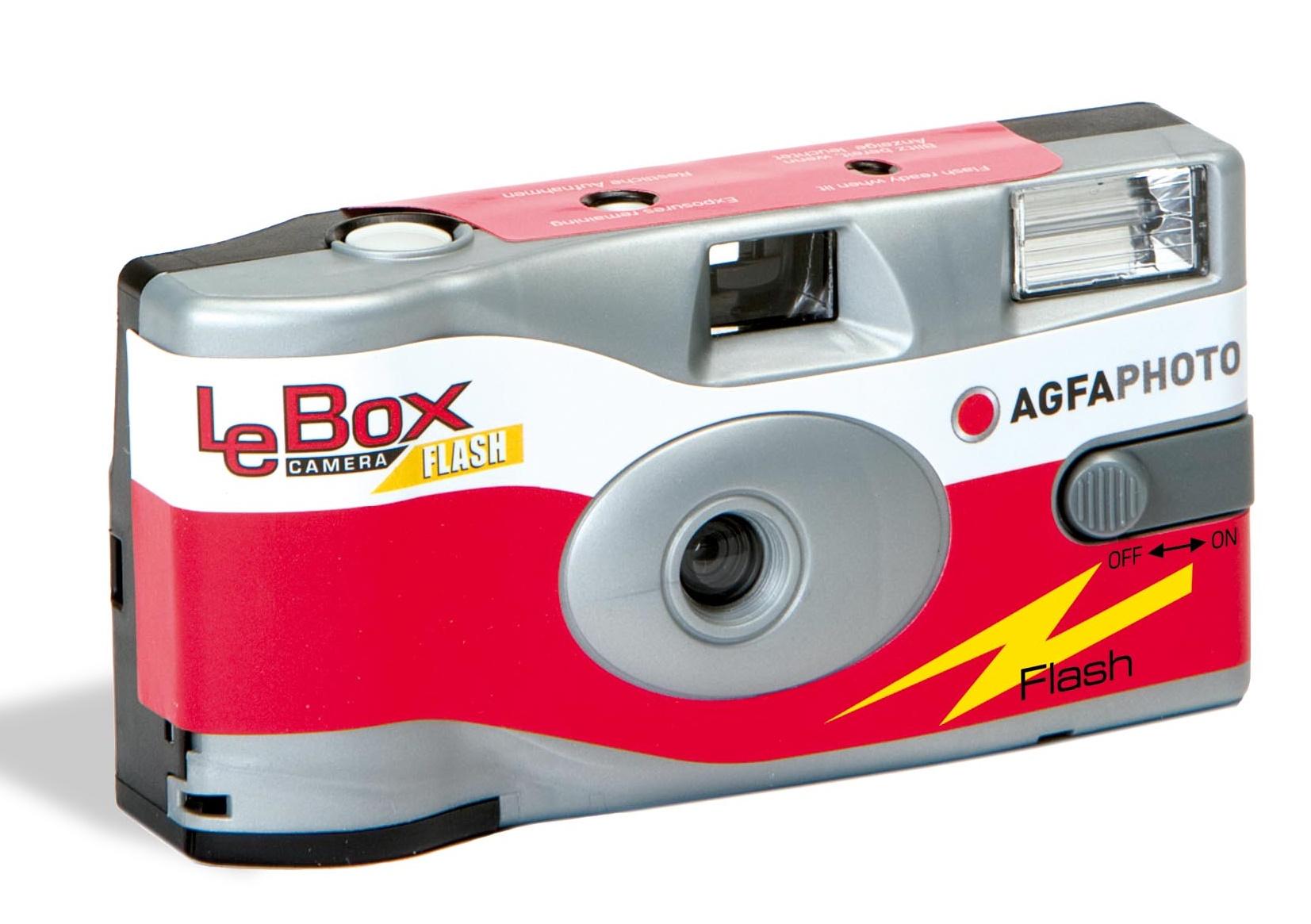 AGFA Lebo Fotoaparát s lampou a farebným filmom