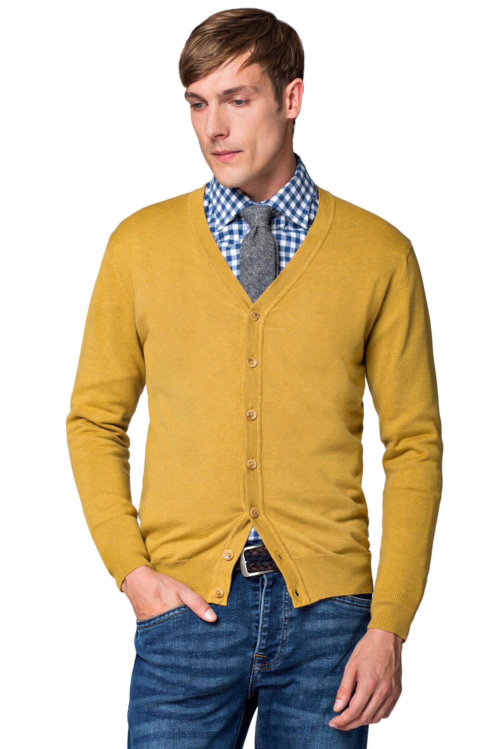 Sveter pánske M Vintage Yellow Lancerto