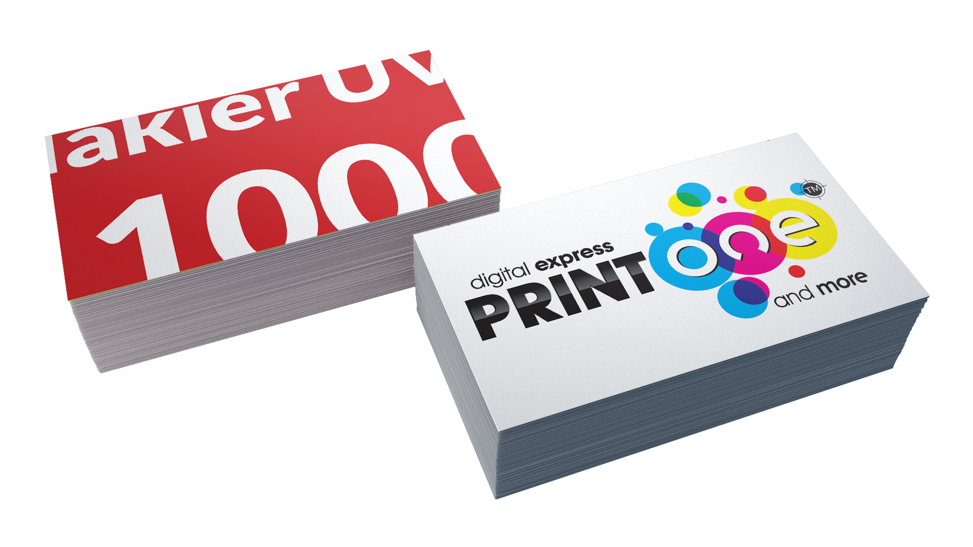Item Business CARDS 1000 2x FILM + 2x UV LACQUER + DESIGN