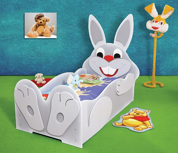 Детская кровать Заяц без матраса