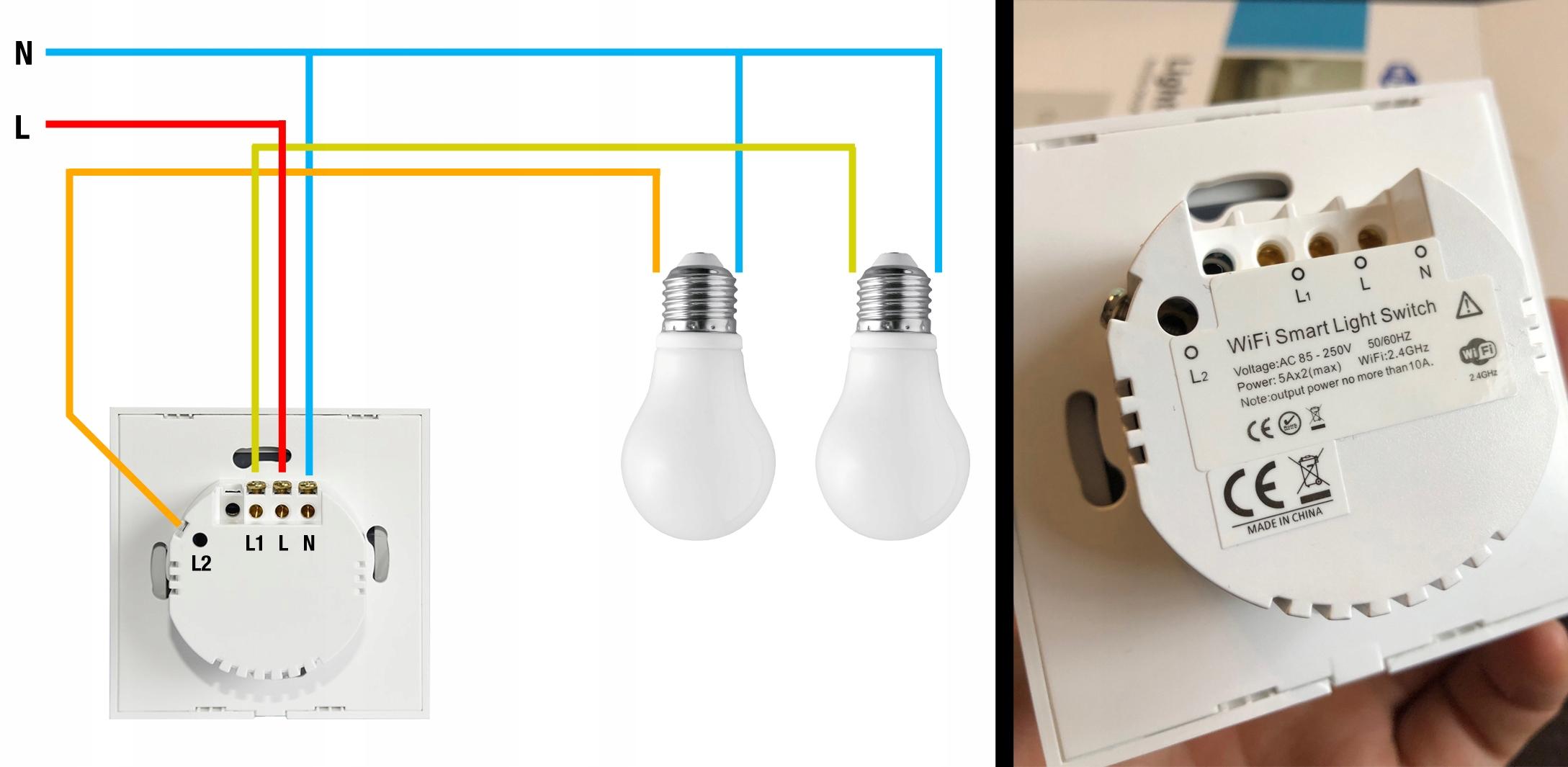 Włącznik światła NEO WIFI Alexa TUYA iOS ANDROID Cechy dodatkowe łączność z wifi