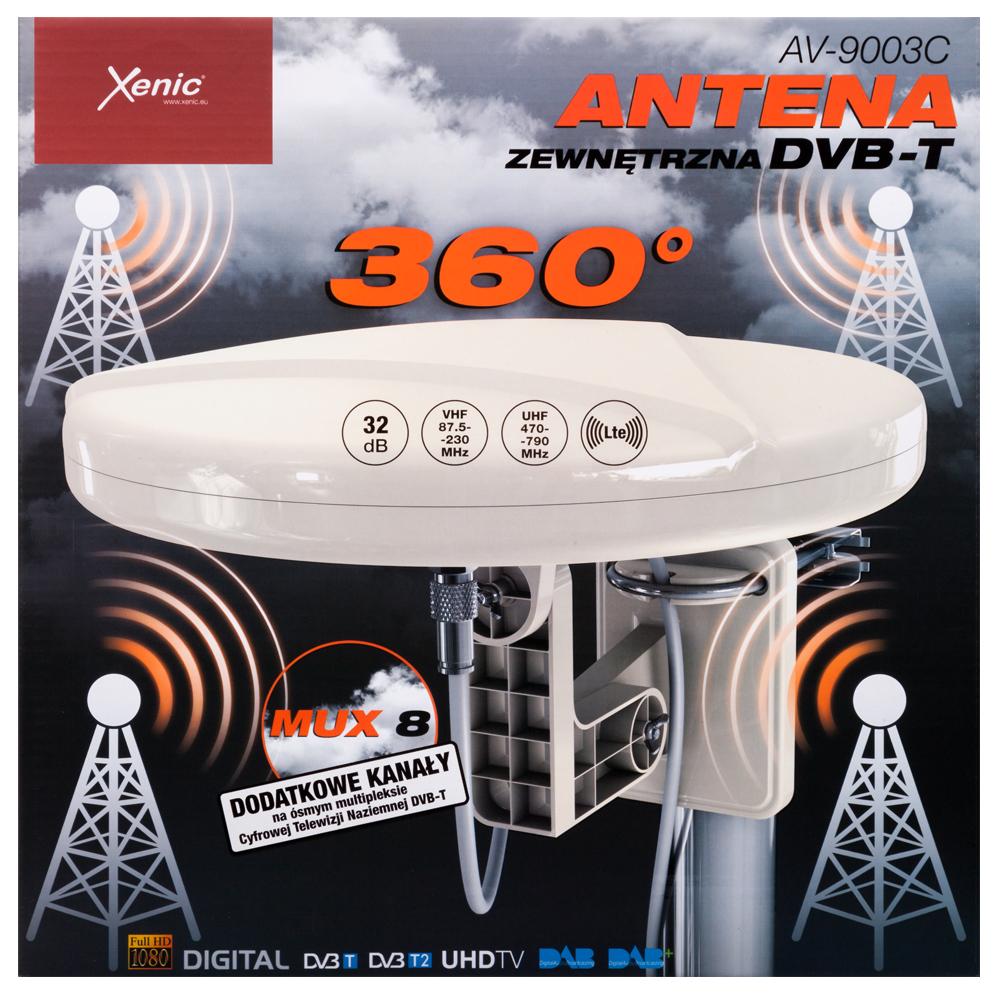 ВНЕШНЯЯ АНТЕННА 360 DVB-T TV MUX8 LTE AV-9003S