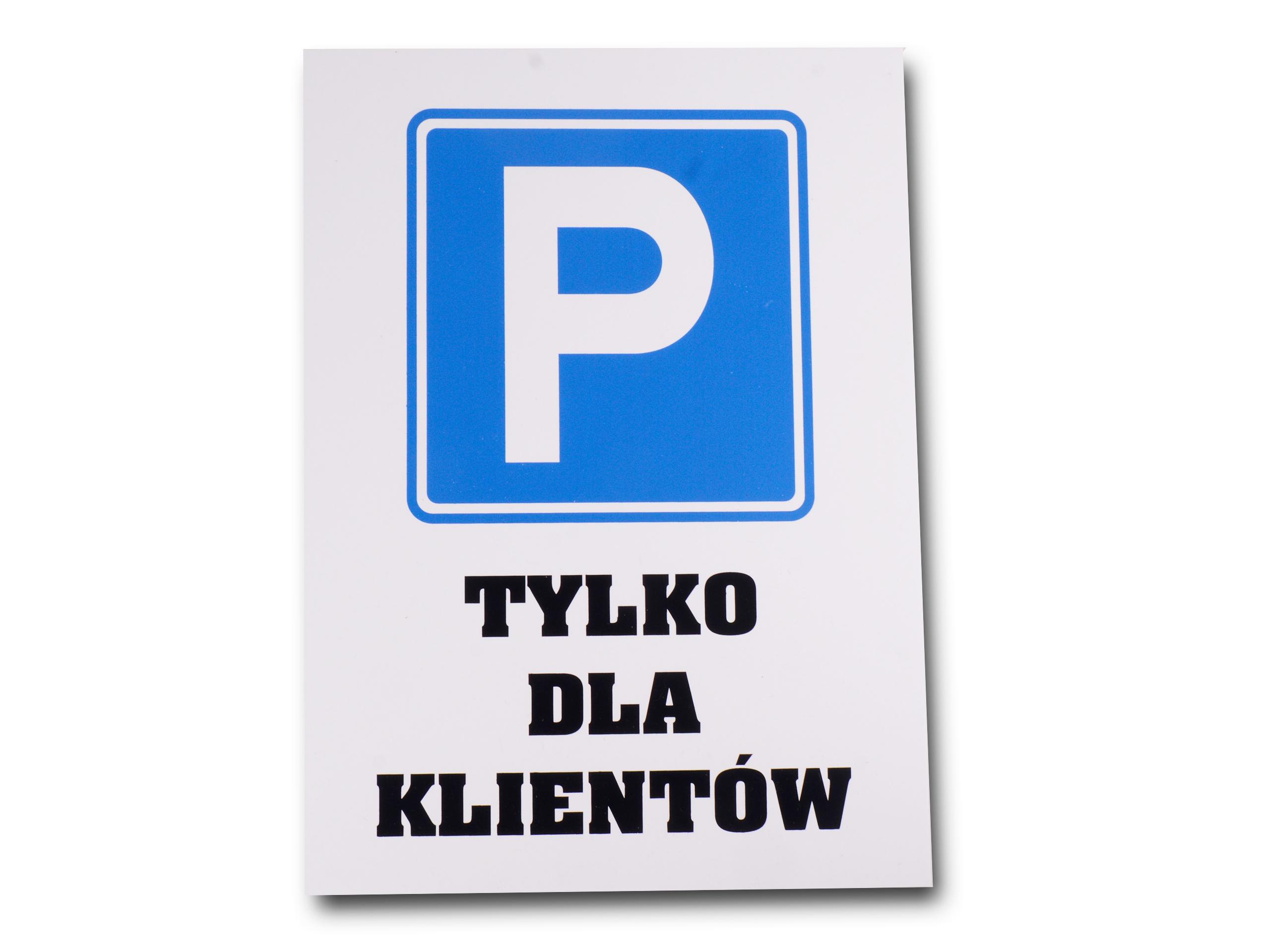 Stolový stôl Parkovanie znamenie len pre zákazníkov