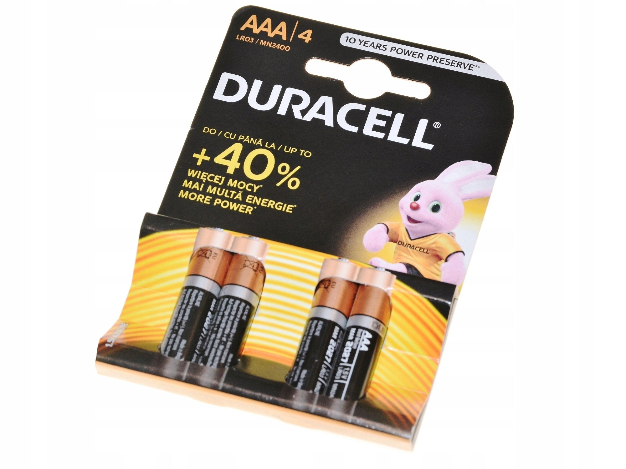 Batéria DURACELL R3 AAA LR3 1.5V 4 ks.