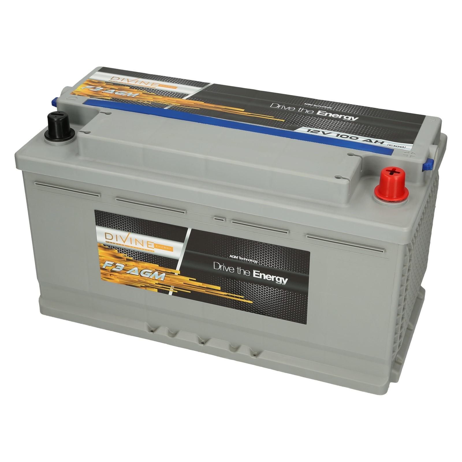 Božská F3 batérie AGM 100Ah HLBOKÉ CYKLUS