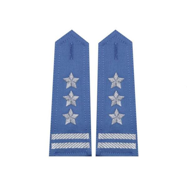 Modré pagóny na tričko v plukovisku