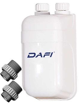Przepływowy ogrzewacz wody DAFI z nyplami 5,5kW