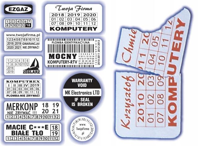 30x10 Plomby stickery Kruche 300 szt. - ArtComp