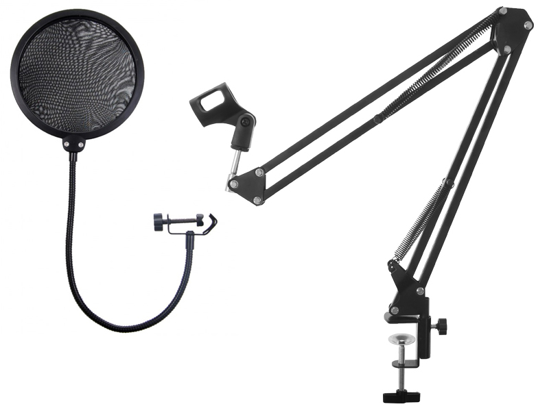 Item HOLDER TRIPOD MICROPHONE + STUDIO POP FILTER