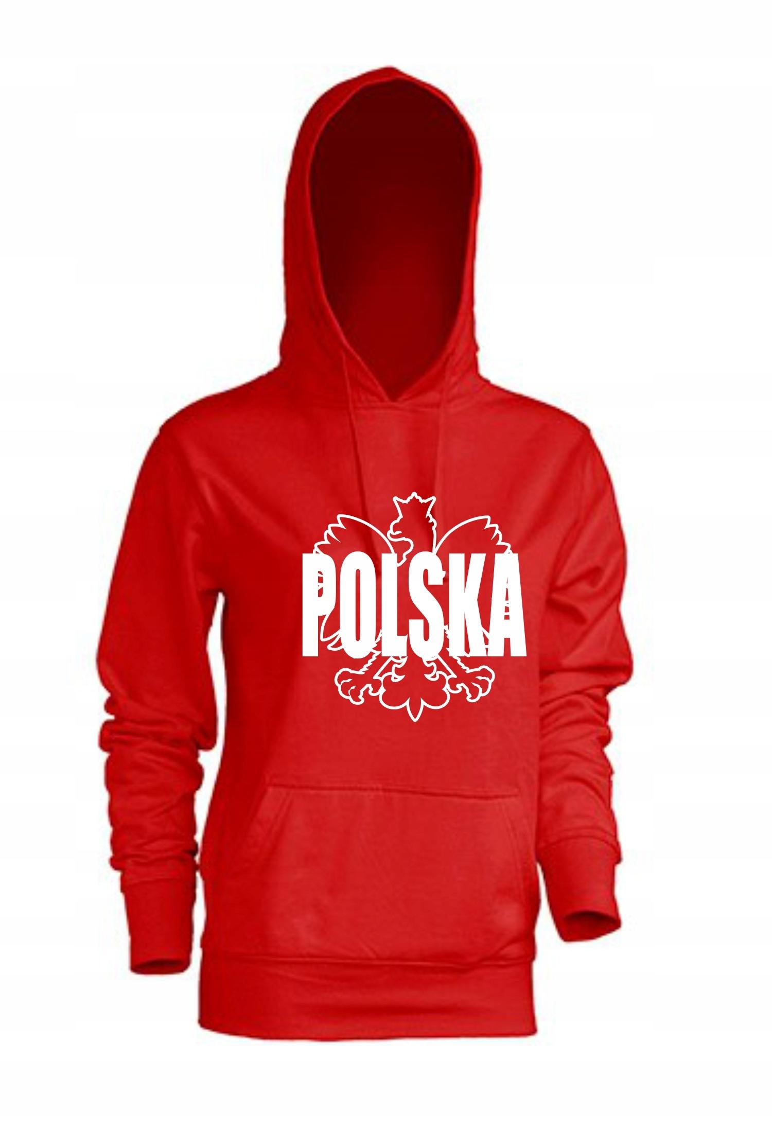 Patriotyczna bluza damska z kapturem Polska r. L