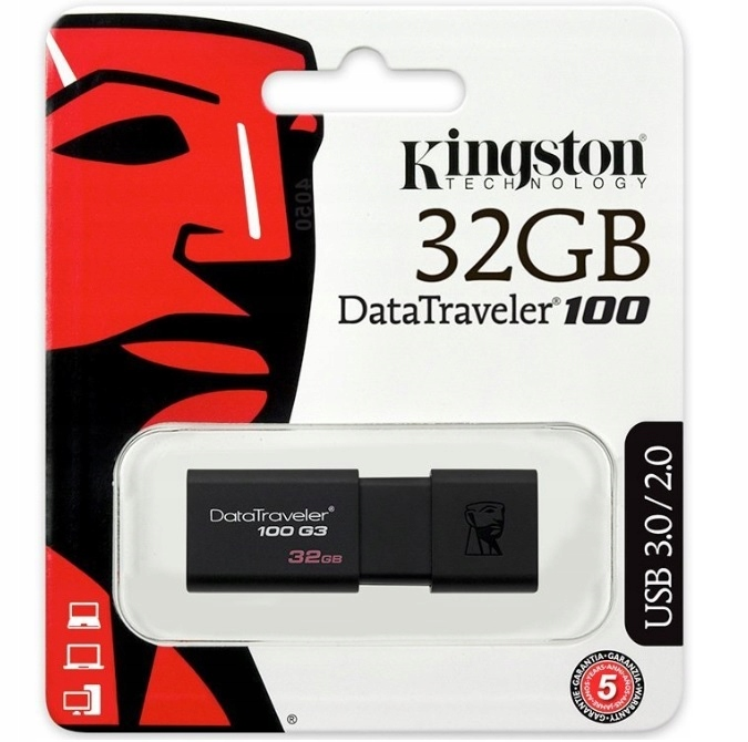 KINGSTON PENDRIVE PAMIĘĆ DT100 G3 USB 3 0 32 GB