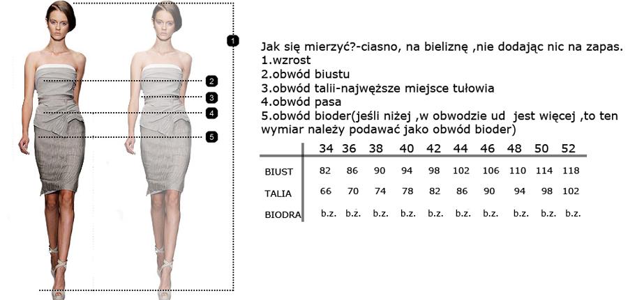 CAMILL 237 czarna sukienka z falbaną 36