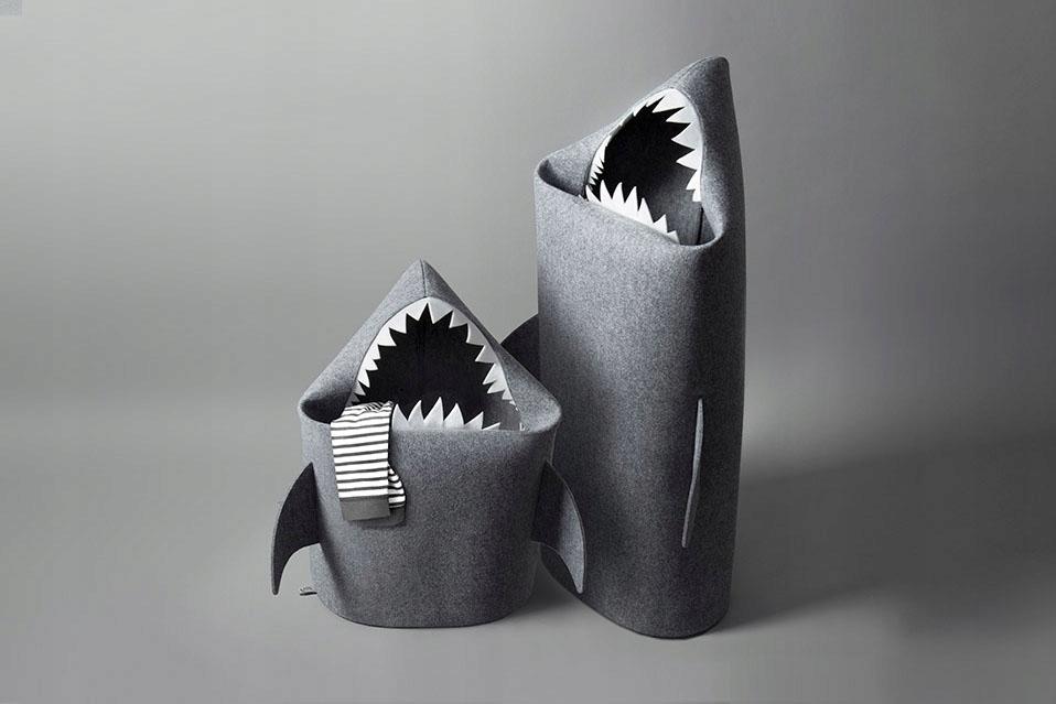 MALÝ ŽRALOK / SHARK DIEŤA. Filcowy kôš na hračky.