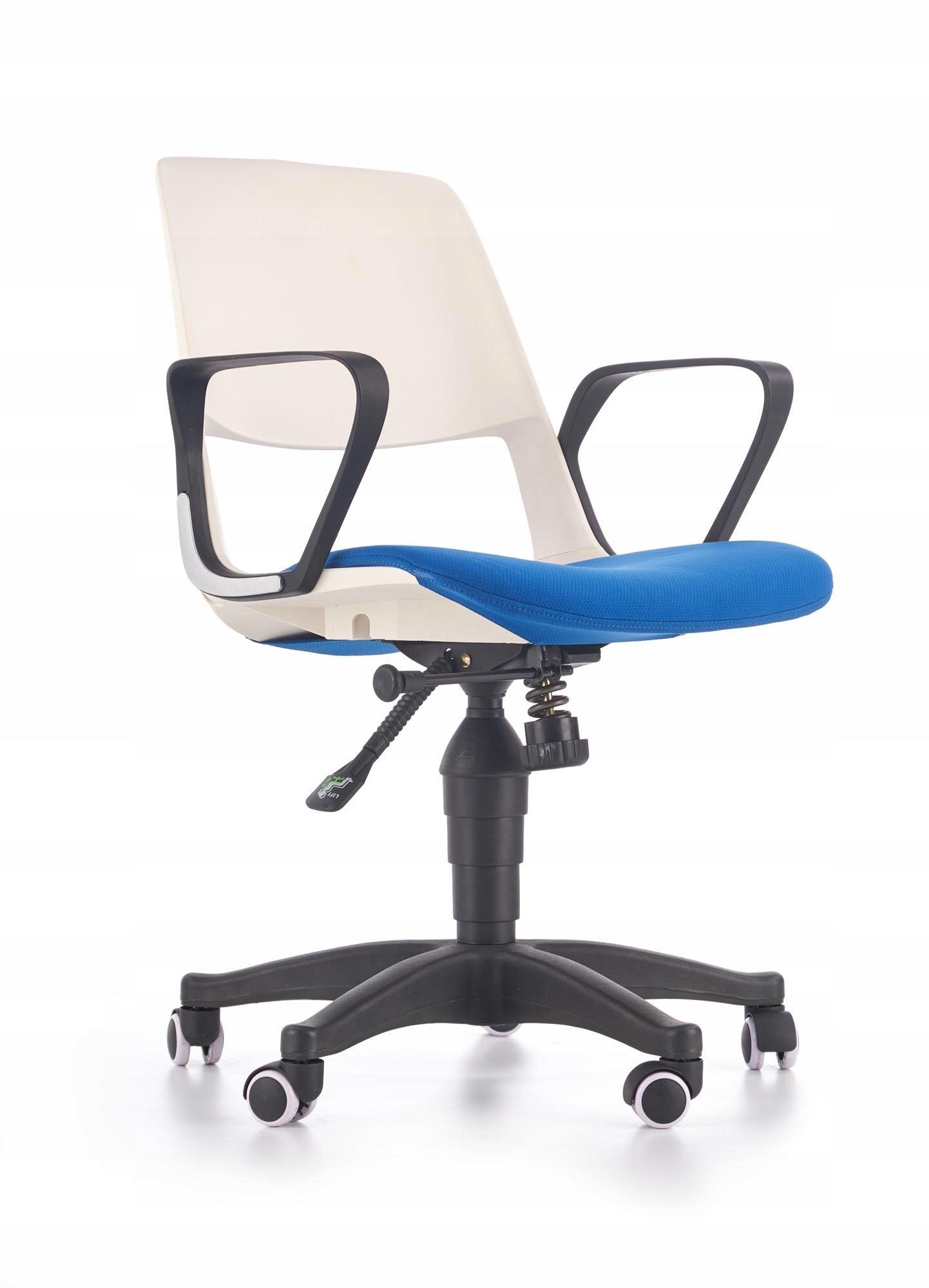 Stoličky na stôl JUMBO biely modrý rotačný