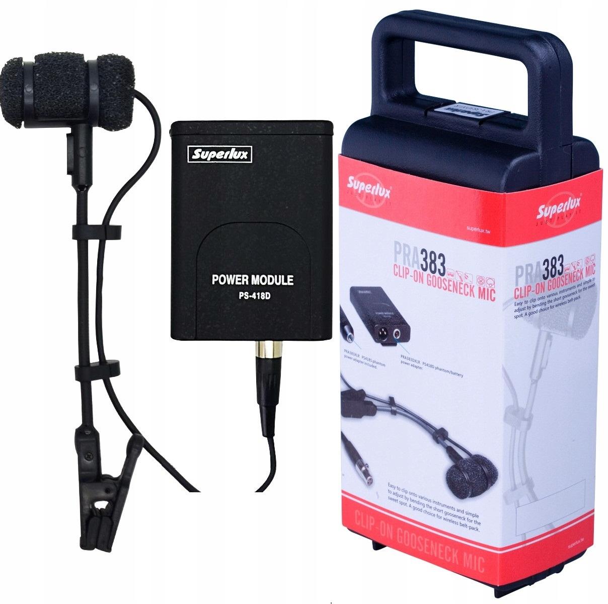 Inštrumentálny mikrofón SUPERLUX PRO-383D PRO