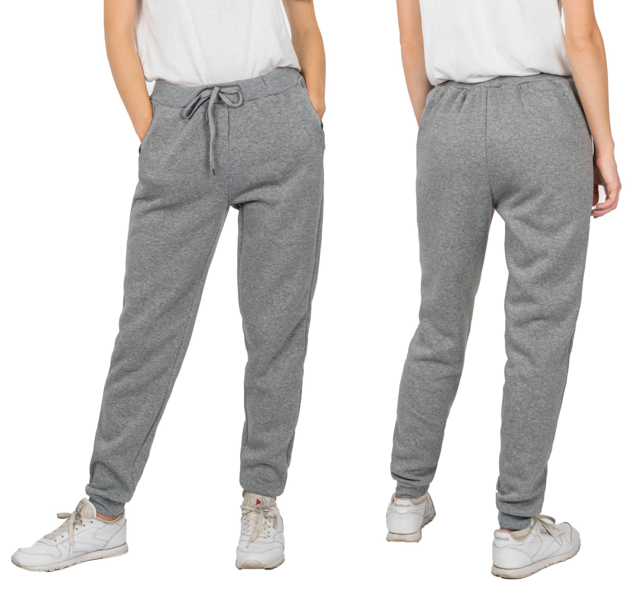Spodnie Dresowe Damskie Dresy 558 XL melanż ciemn
