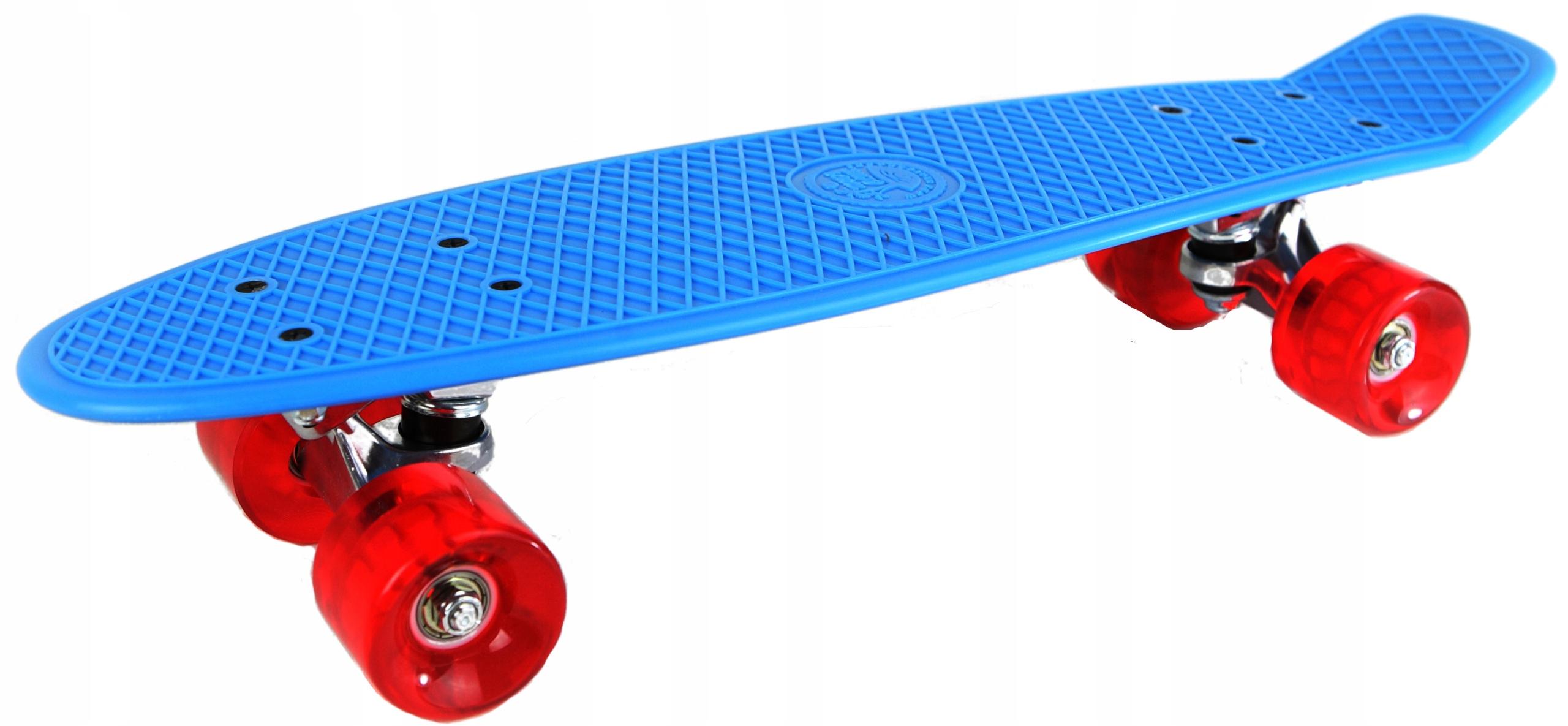 Modrý a červený skateboard PROMO
