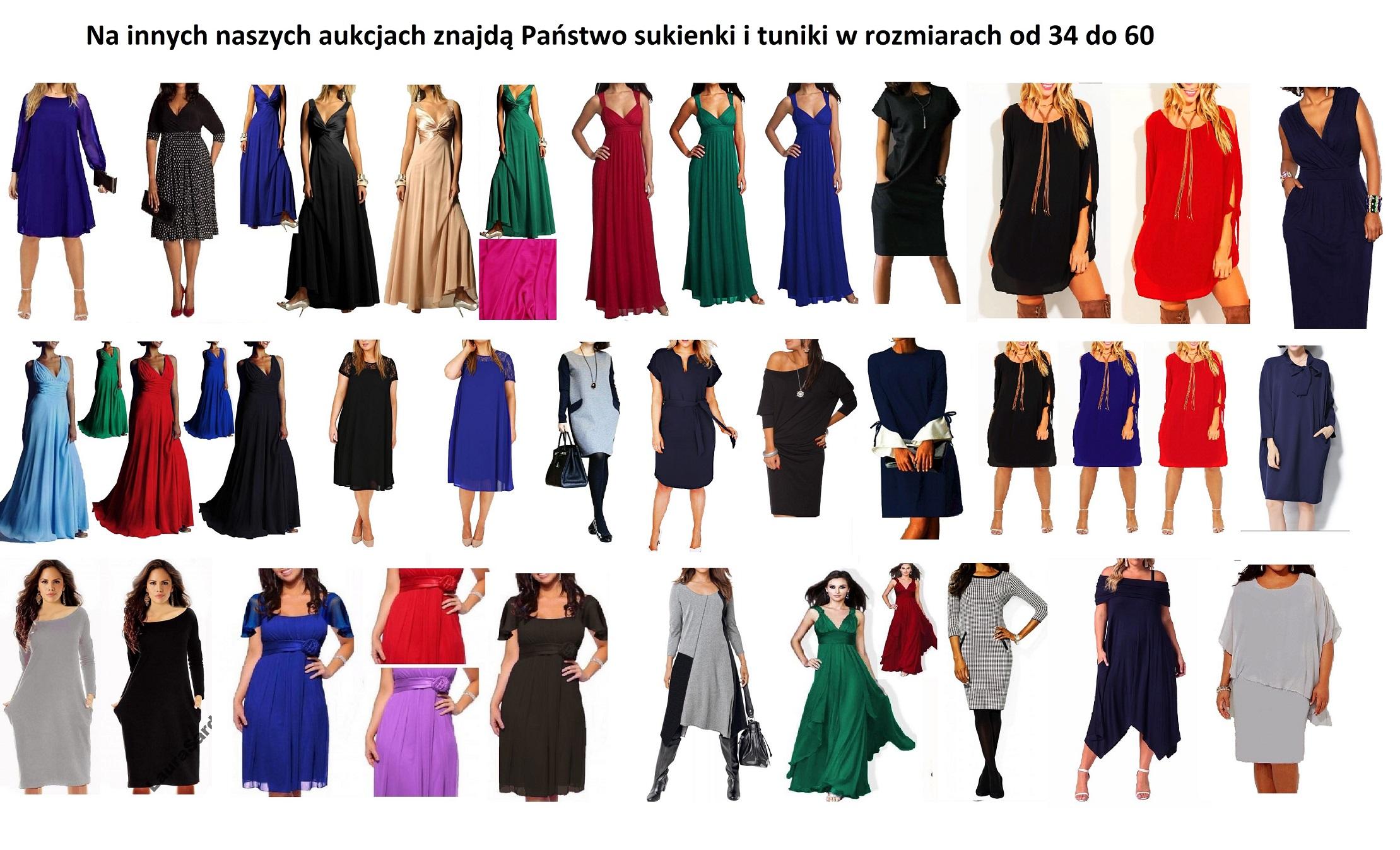 sukienka WIZYTOWA wyszczuplająca roz 42 do 58