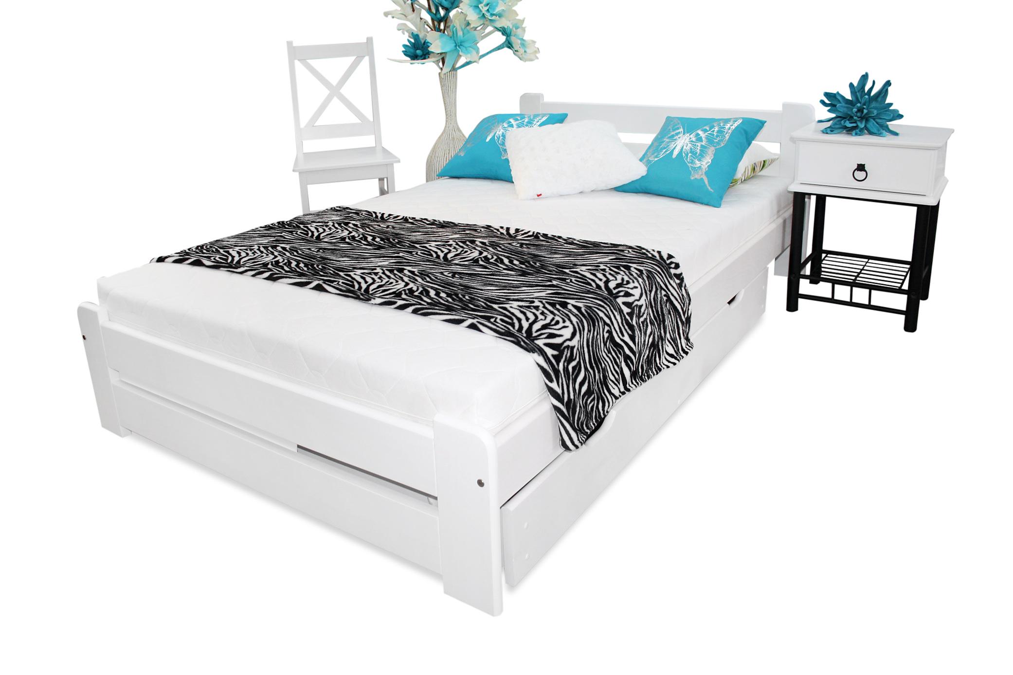 łóżko Eureka 140x200 Materac Sprężynowy Sypialnia