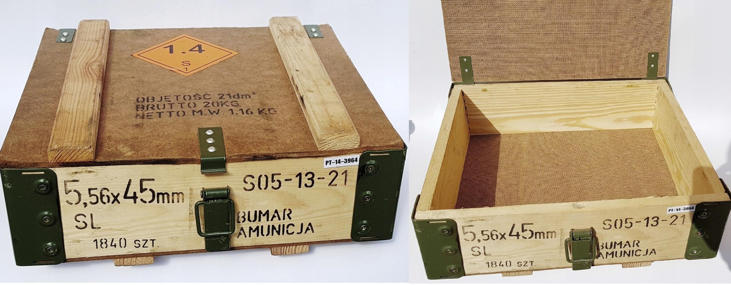 Drevená box pre muníciu