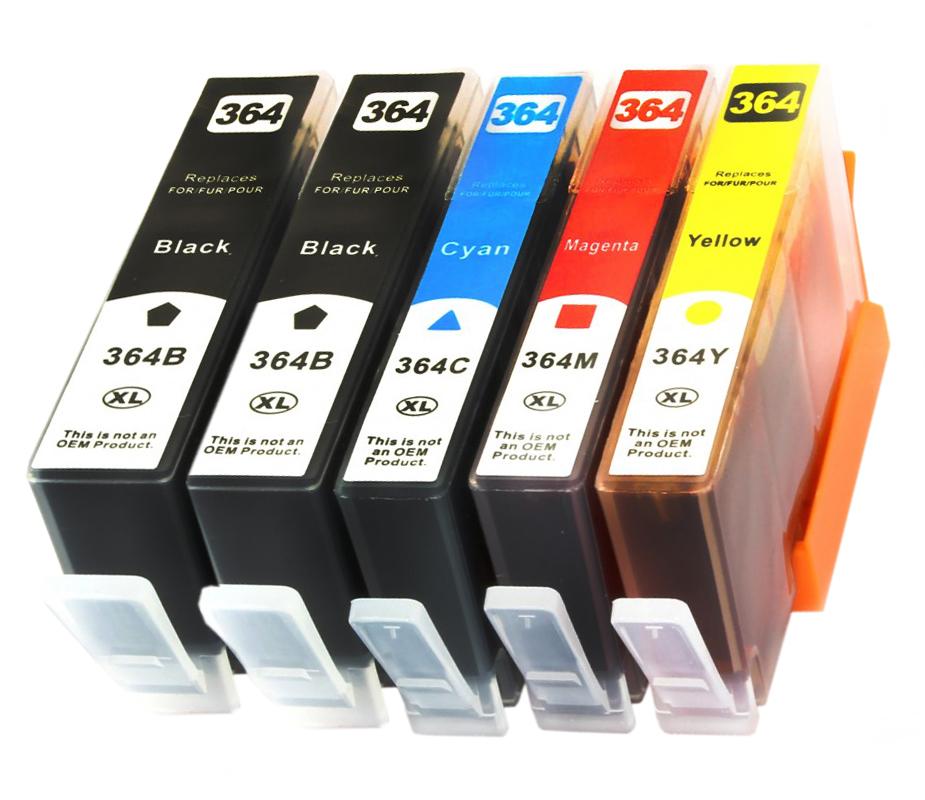 Item 5x INK FOR HP 364XL DESKJET 3070A 3520