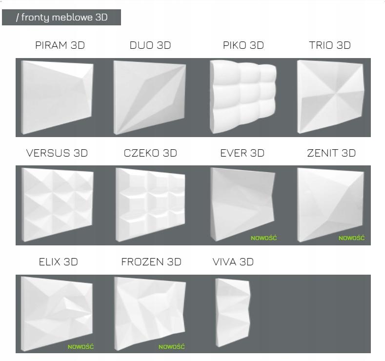 Čela nábytku v 3D - surové MDF alebo lakované