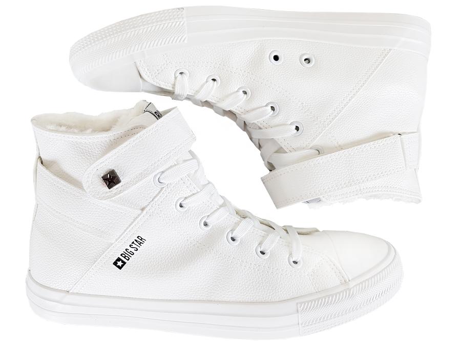 BIG STAR trampki damskie białe futro V274541F 36