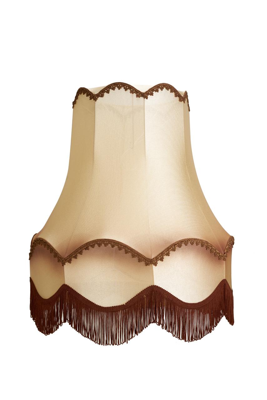 Tienidlo lampy Vintage Bell Béžová/Hnedá 16x26x25 cm