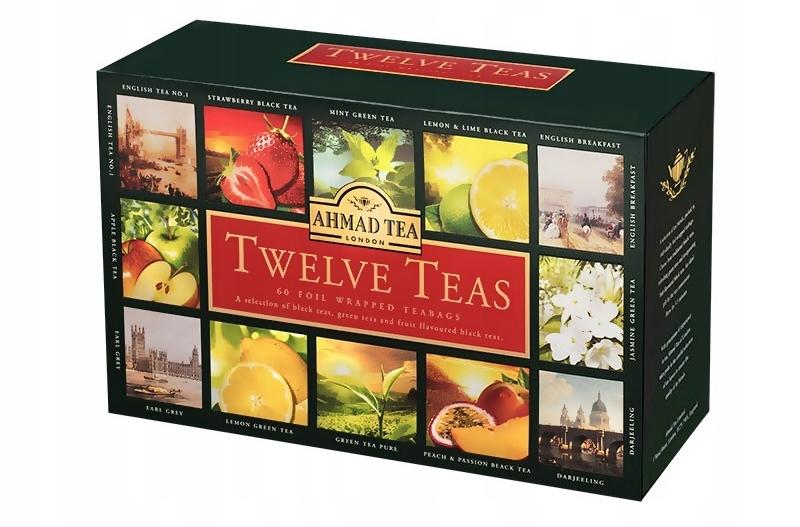 Item Ahmad Twelve 12 Flavors UNIQUE Tea Set of the HIT