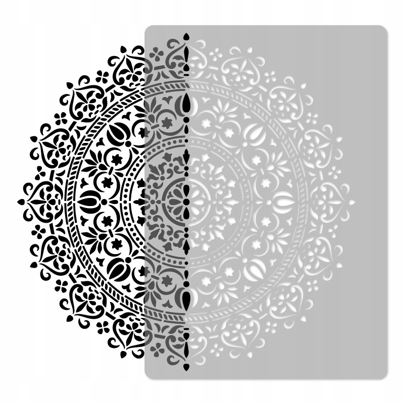 шаблон малярный многократный / 45x65cm / MANDALA 1