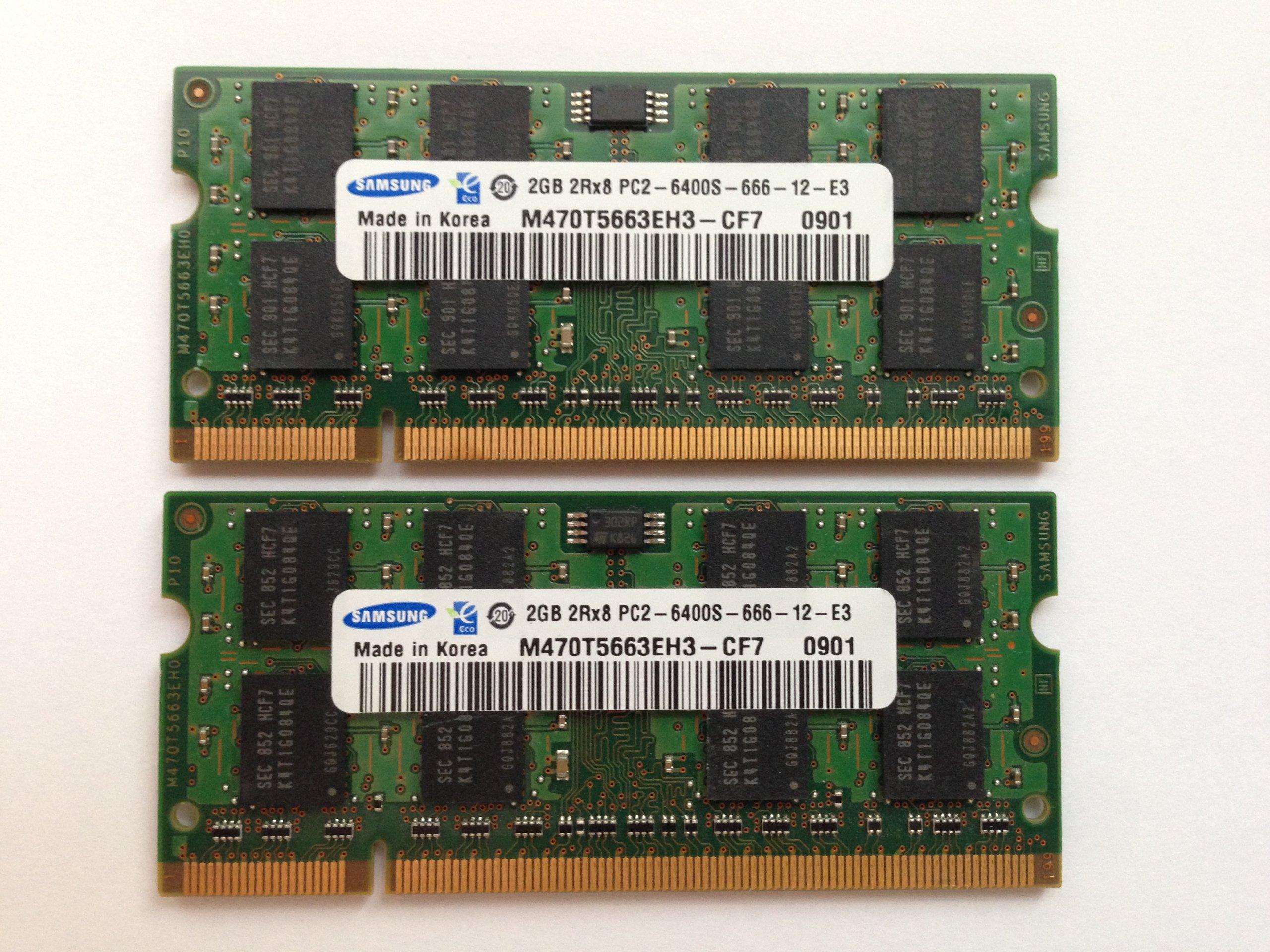 Купить PAMIĘĆ RAM 4GB 2x2GB DDR2 SO-DIMM 800MHz PC2 6400S на Otpravka - цены и фото - доставка из Польши и стран Европы в Украину.