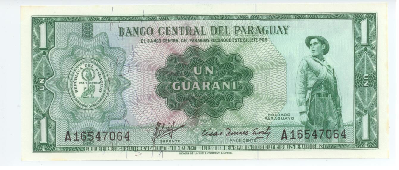 Купить Парагвай (Paraguay) 1 гуарани 1952 на Otpravka - цены и фото - доставка из Польши и стран Европы в Украину.