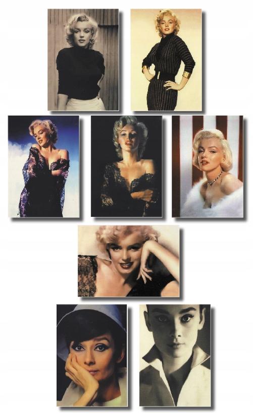 Marilyn Monroe Audrey Hepburn Uvedenie 8 ks