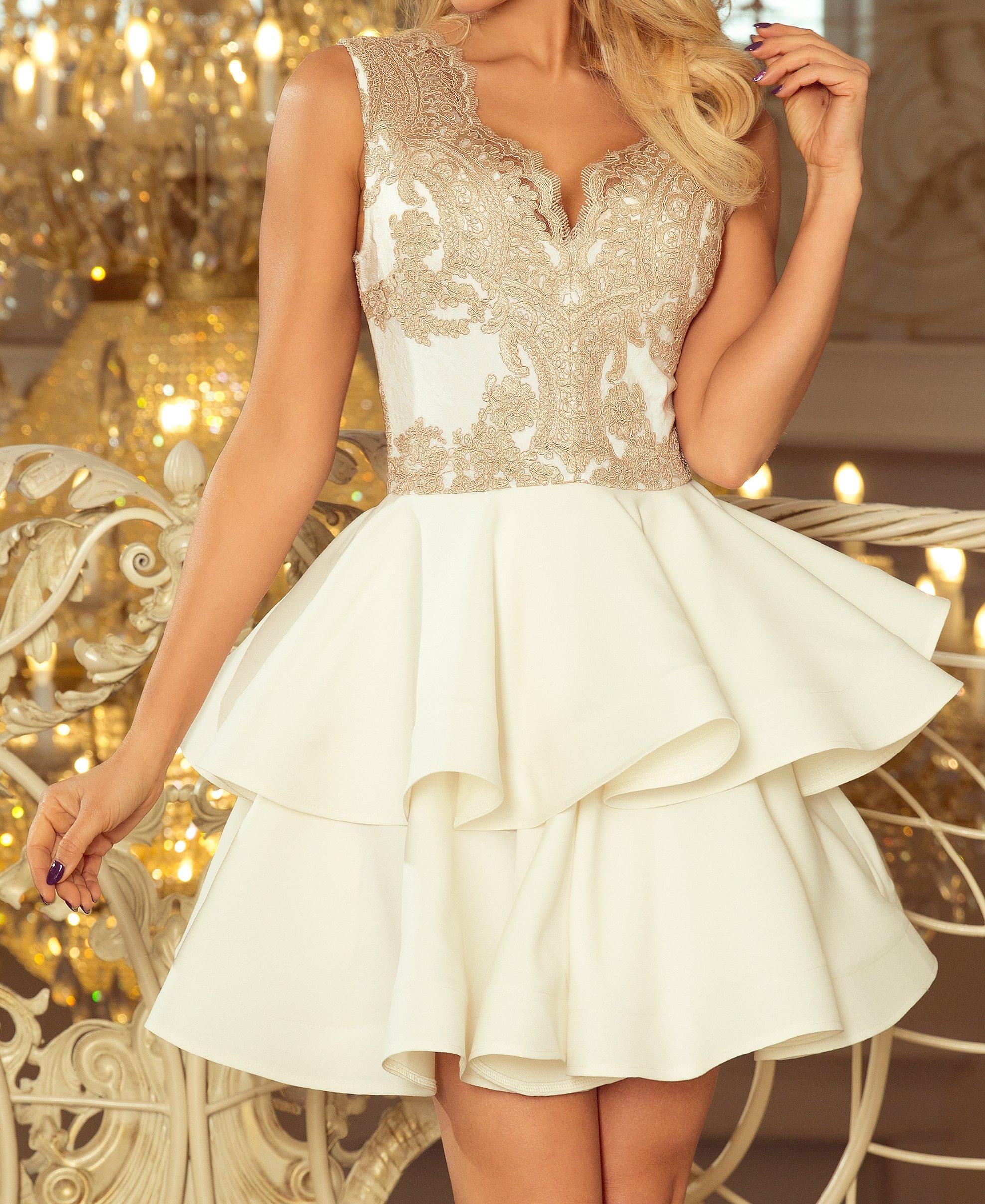 Modna Młodzieżowa Sukienka KOKTAJLOWA 200-1 S 36