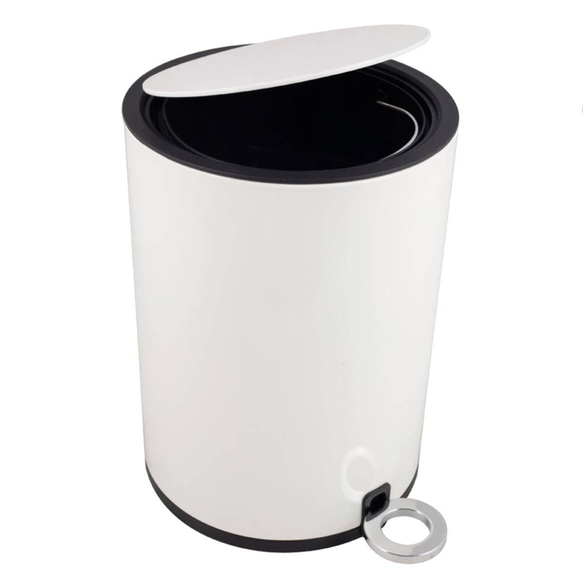 Odpadkový kôš / kúpeľňa, 3l, pomaly sa zatvárajúca, biela