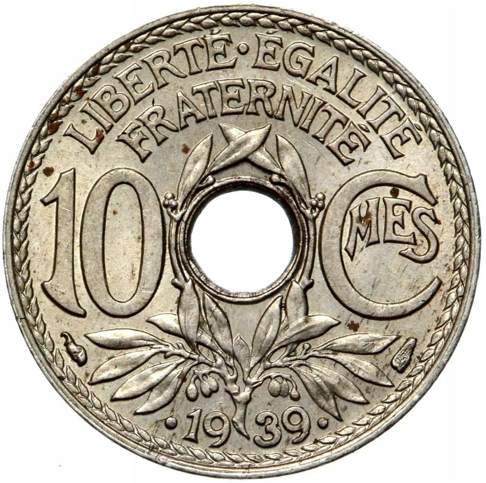 Francúzsko - mince - 10 centov 1939 - Mennicza UNC