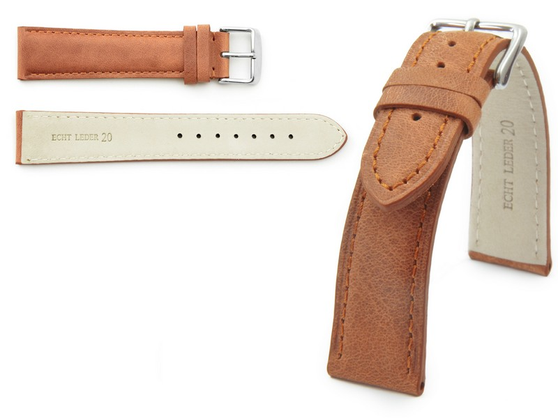 Item 100% LEATHER WATCHBAND TWISTER 22 COLORS