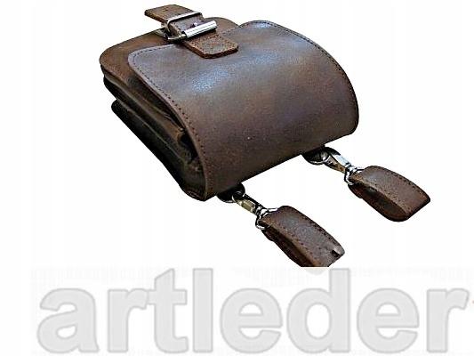Sakwa na motor pás a ramenné KOŽENÝ RETRO POĽSKÝ