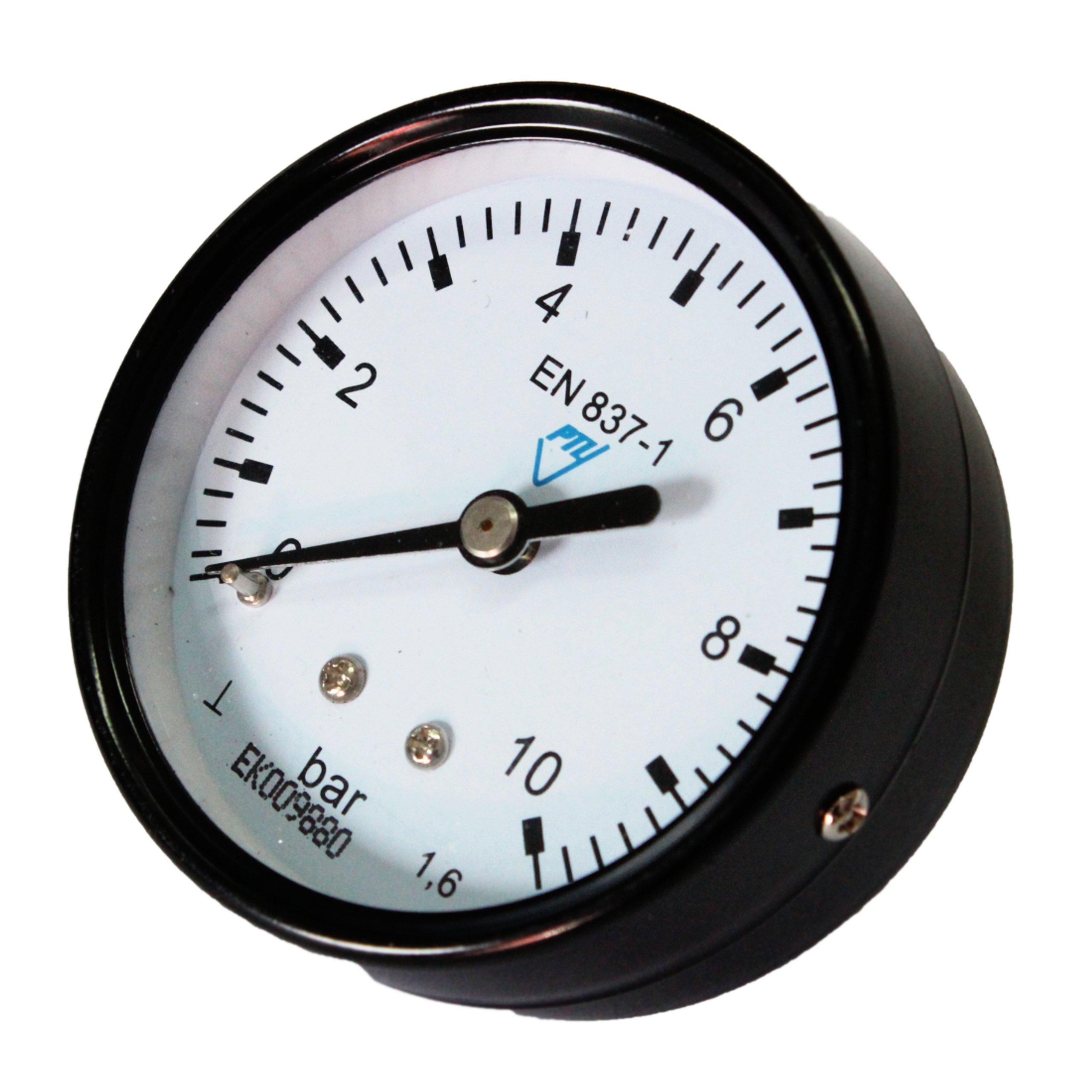 Tlakový meradlo pre meranie tlaku vo vodnej inštalácii
