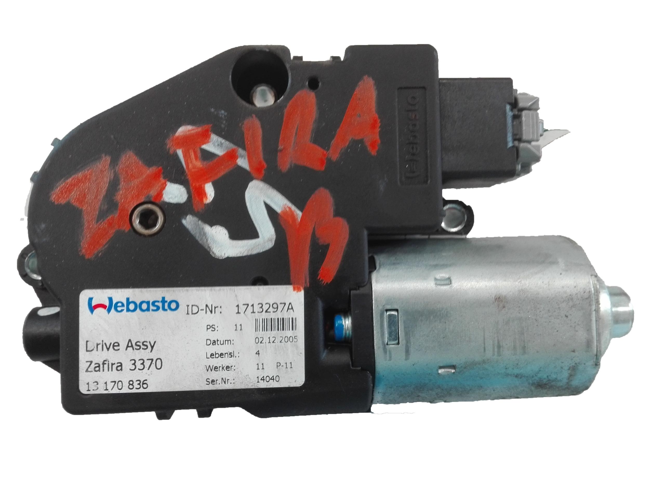 двигатель люка рольставни zafira b 13170836 eu