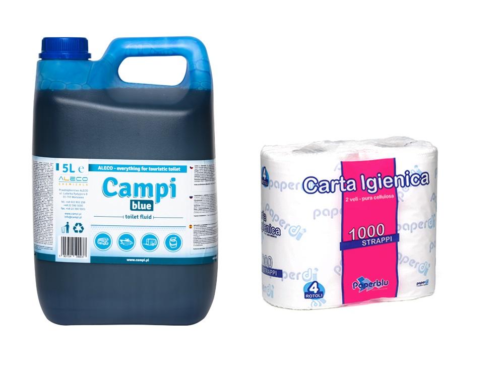 Turistické toalety Campi Blue 5L papier