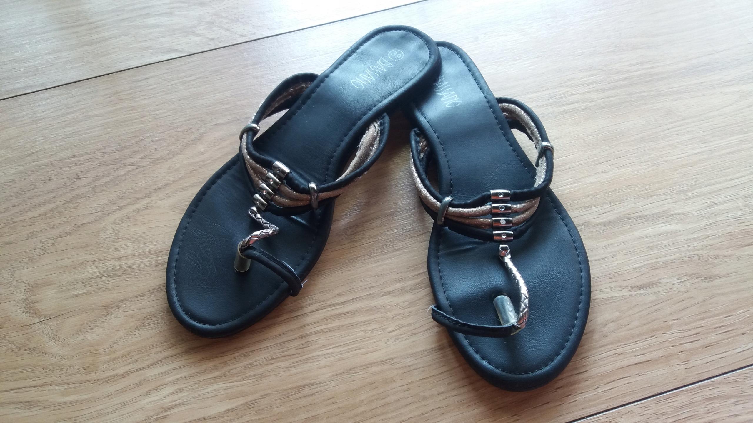 sandały damskie bassano weżowe