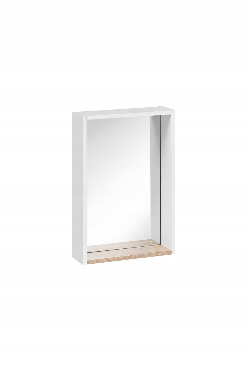 Finca biele zrkadlo s policou dub šírka 30 cm