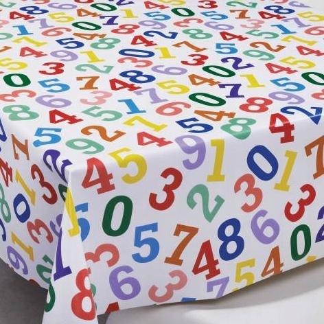 CERATA OBRUS szer. 140cm CYFERKI liczby kolorowa